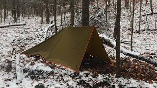 Silent Bushcraft Winter Tarp Shelter