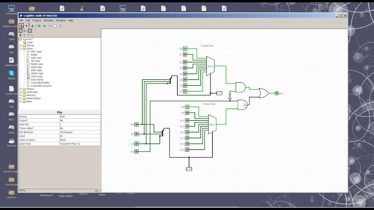 Building a 16 bit multiplexer from 2 8 bit multiplexors ...
