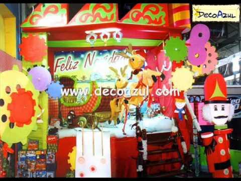 Navidad papanoel decoracion de fiestas infantiles decoazul for Decoracion de locales para navidad