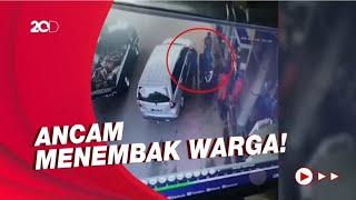Terekam CCTV! Pria Diduga Oknum Polisi Ancam Tembak Warga Di Lebak