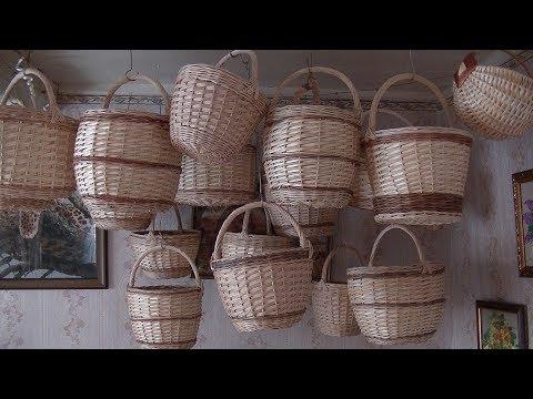 Плетение корзины из лозы . Часть 2