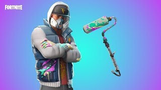 "FORTNITE NEW ""ABSTRAKT"" Skin & ""RENEGADE ROLLER"" Pickaxe"