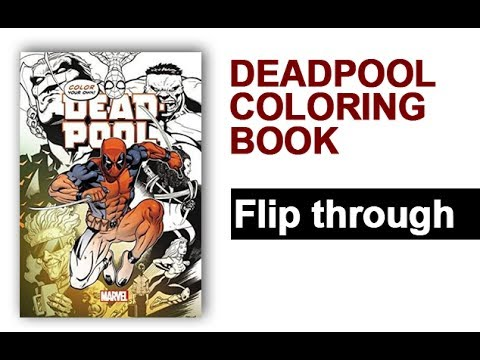 Deadpool Coloring Book Flip Through   Color Your Own Deadpool Rob Liefield