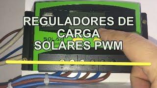 Reguladores de carga solares PWM - Configuración