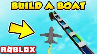 STEERABLE FLYING PLANE in Build a Boat for Treasure! - Roblox