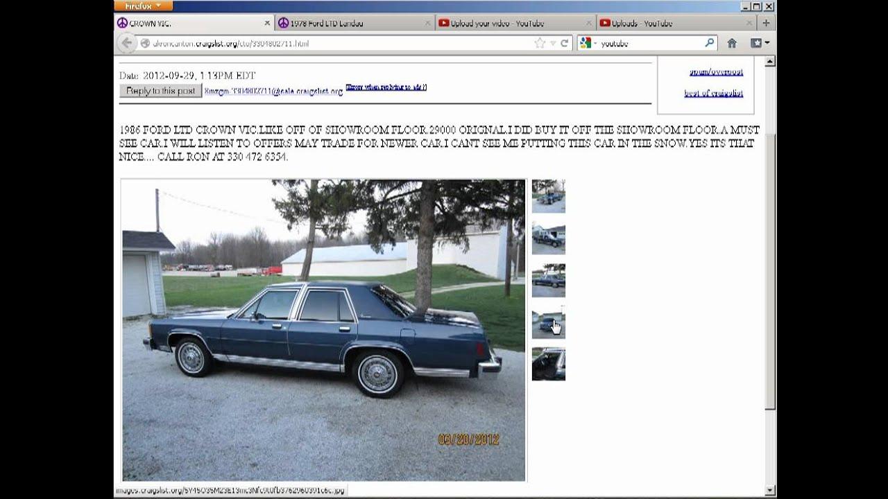 Best Of Akron Canton Craigslist 1986 Ford Ltd Crown Victoria 10 3 12