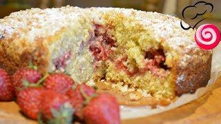 Удивит и точно понравится!🍓Клубничный пирог на овсянно-кокосовом тесте