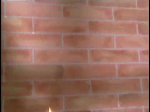 Imitacion de pared de ladrillo youtube for Pintura efecto piedra