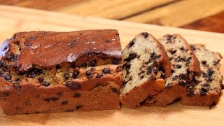 Banana Bread Recipe  Eggless Chocolate Chip Banana Bread  Divine Taste With Anushruti