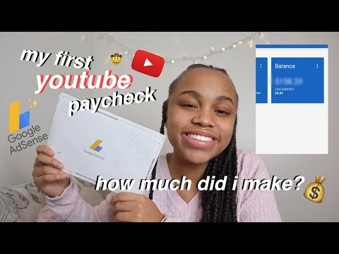 MY FIRST YOUTUBE PAYCHECK | how much did I make??