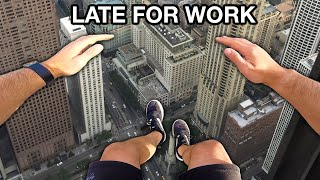 Late For Work Parkour POV