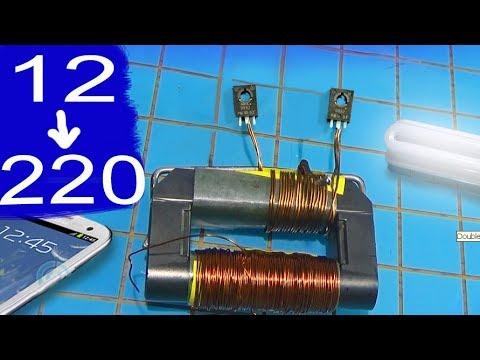 Simple inverter circuit diagram using transistor d882 in mosquito racket | Alf
