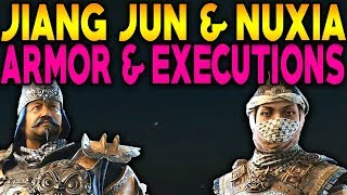 For Honor: JIANG JUN & NUXIA NEW ARMOR EXECUTIONS & GAMEPLAY PREVIEW! ARCADE MODE IN DEPTH LOOK!