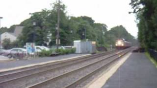 Amtrak Downeaster and MBTA Commuter Rail Meet