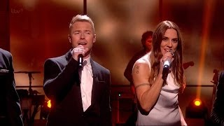 Melanie joins Boyzone on stage to perform their biggest hit 'No Mat...