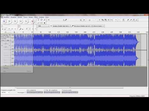 come tagliare una canzone con audacity