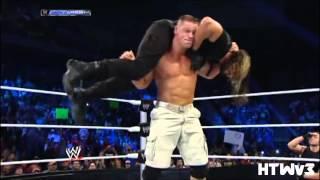 Seth Rollins vs John Cena Highlights HD - Smackdown 12/27/13