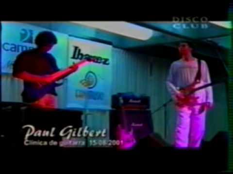 PAUL GILBERT  jam guitar lima peru 2001 clinic 8  -  PART 1