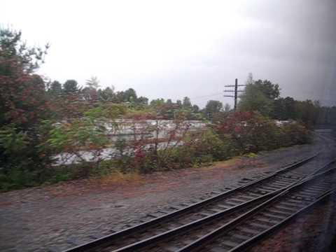 Saratoga area by Amtrak train