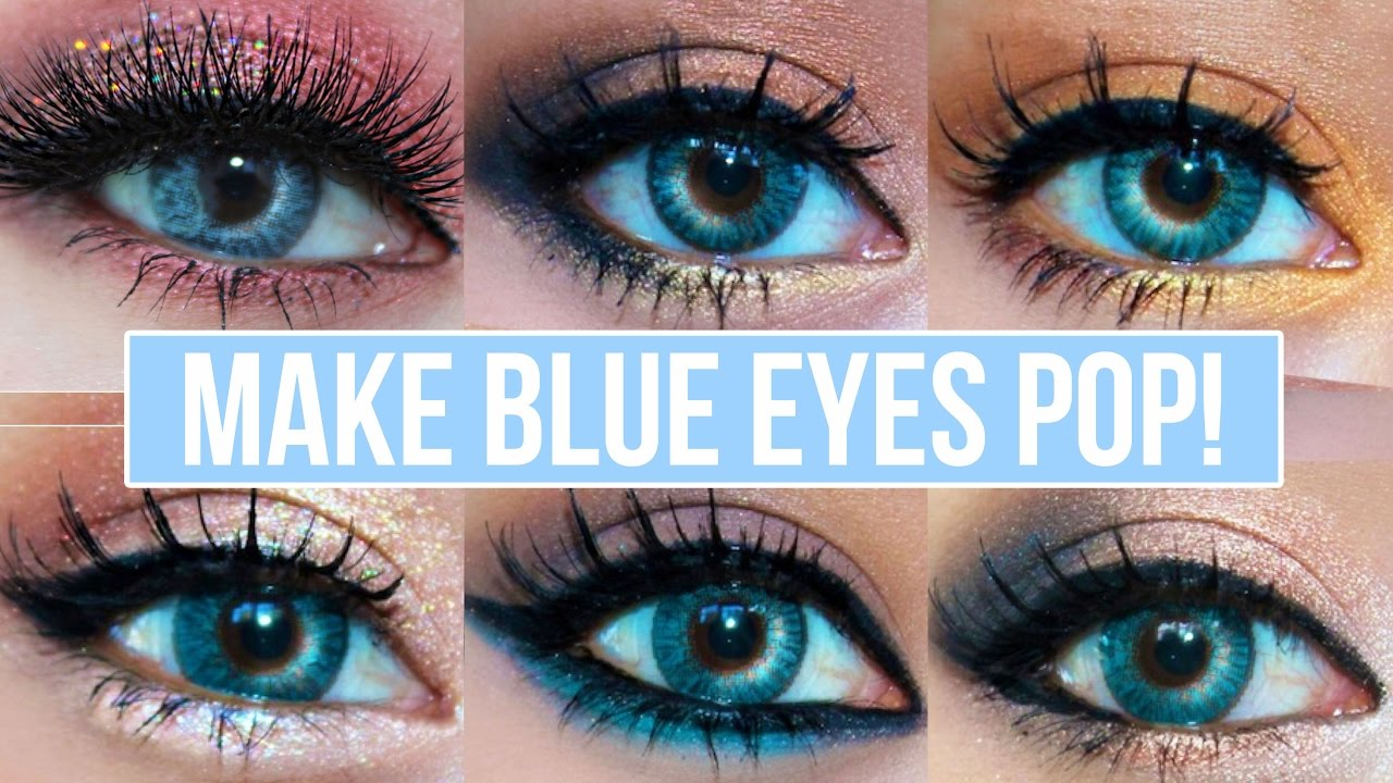 5 makeup looks that make blue eyes pop! | blue eyes makeup tutorial