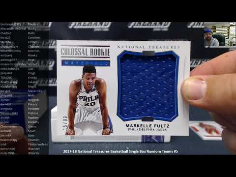 5/25/2018 2017-18 National Treasures Basketball Single Box Random Teams #5