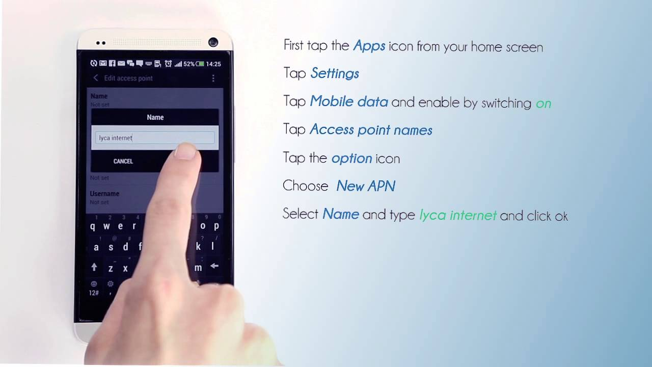 Lycamobile NL - Mobile Data Settings for your HTC - YouTube