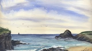 Paint A Cornish Seascape in watercolours with Matthew Palmer - www.watercolour.tv