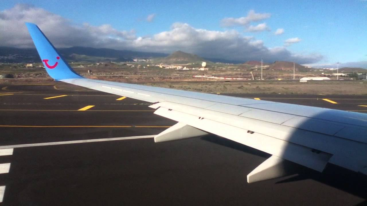 Thomson Flights Check In >> Thomson Airways 737-800 Taking Off Tenerife South Airport ...
