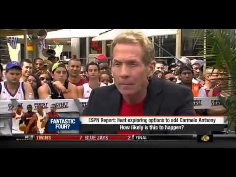 Espn First Take   Carmelo Anthony To The Miami Heat !