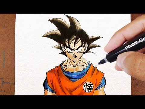 Como Imprimir Desenho, Aprenda a Desenhar  o Goku Dragom Ball