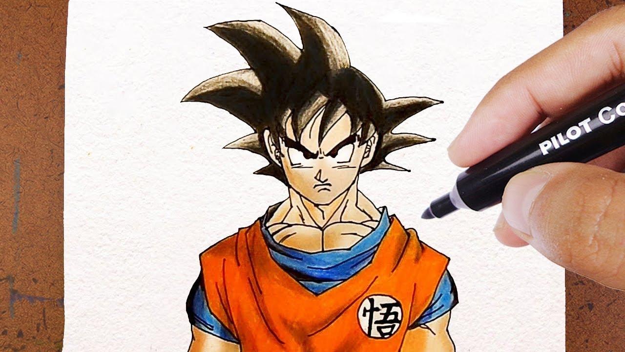 Desenhos Para Colorir Colorir Goku: COMO DESENHAR O GOKU DRAGON BALL Z
