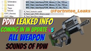 *NEW* Fortnite: LEAKED PDW FILES IN BATTLE ROYALE! | Sounds & More