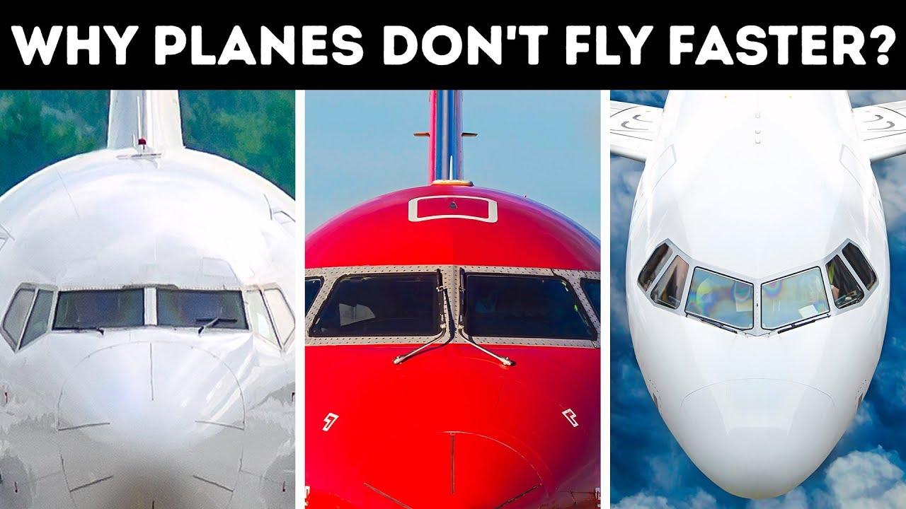 Warum Passagierflugzeuge nicht schneller fliegen können + video