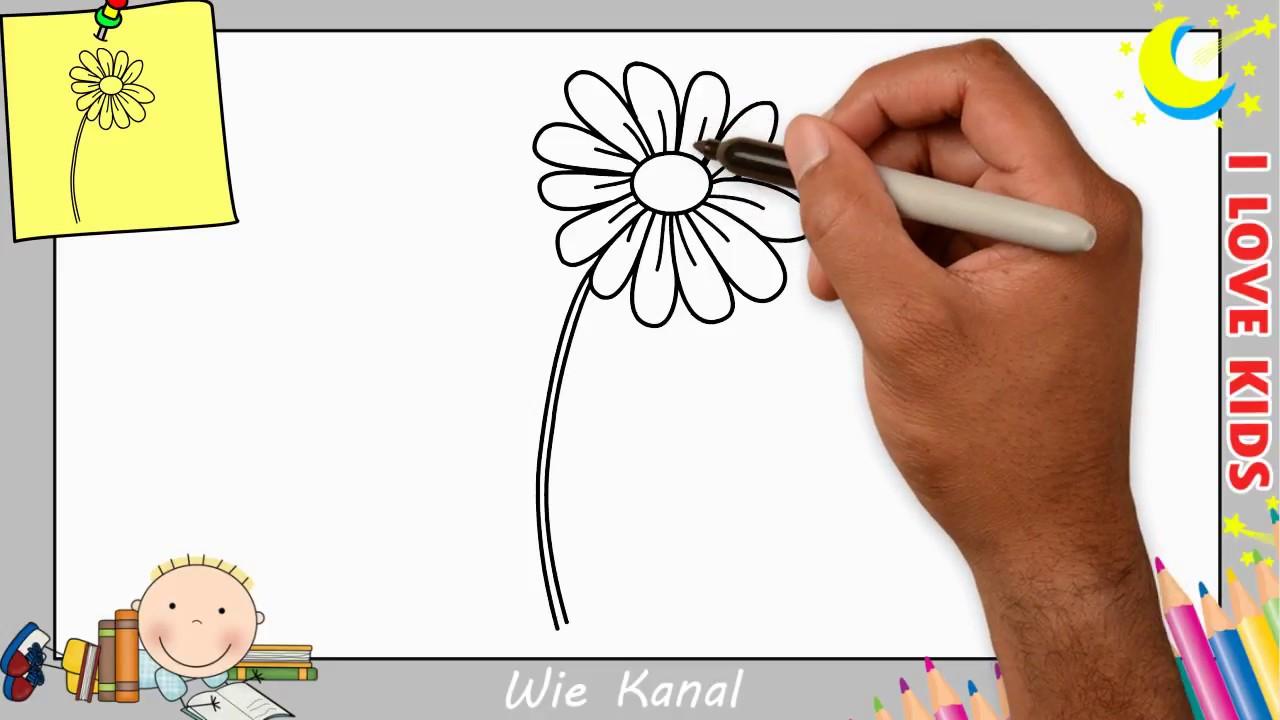 blume zeichnen lernen einfach schritt f r schritt f r. Black Bedroom Furniture Sets. Home Design Ideas