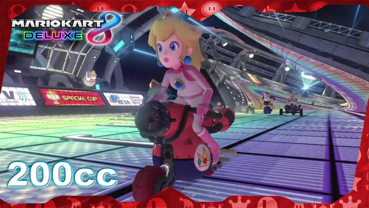 Mario Kart 8 Deluxe for Switch ᴴᴰ (2017) Full Playthrough (All Cups 200cc, Peach gameplay)