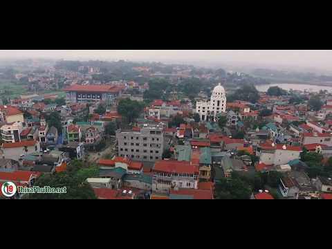 Vẻ đẹp thị xã Phú Thọ nhìn từ trên cao
