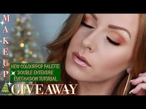 Makeup Giveaway and COLOURPOP NEW Double Entendre Eyeshadow Palette Tutorial