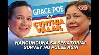 Grace Poe at Cynthia Villar, nangunguna sa senatorial survey ng Pulse Asia