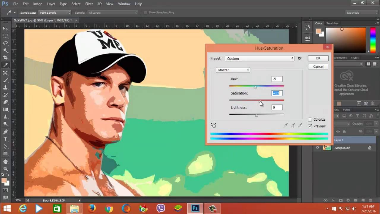 how to create a prisma effect in photoshop