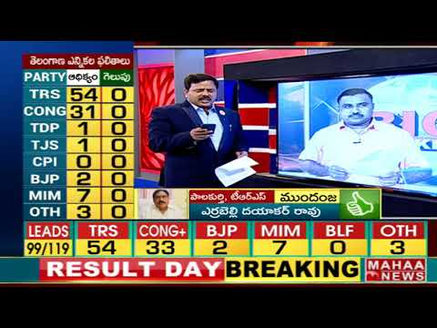 TRS leads in Hyderabad constituencies | #TelanganaElectionResults2018 | Mahaa News