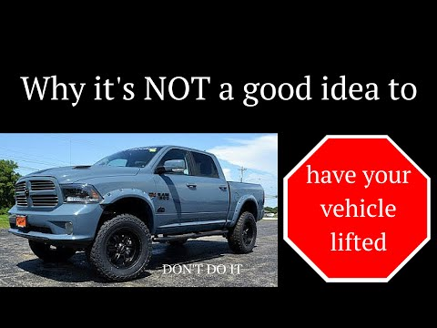 why you shouldn't lift your truck