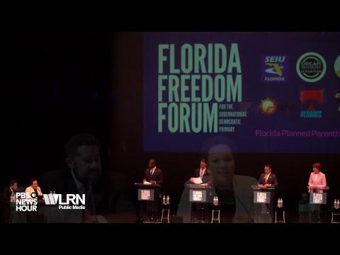 WATCH LIVE: 2018 Florida Democratic Gubernatorial Primary Debate