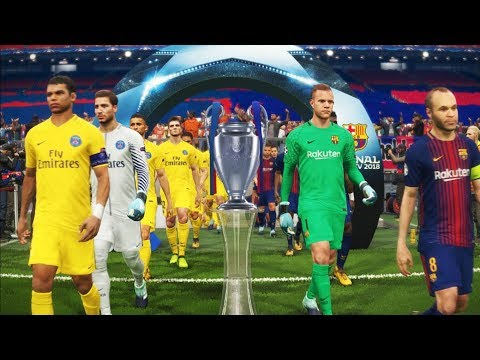 PES 2018 | UEFA Champions League Final | Barcelona vs Paris Saint Germain [PSG] | Gameplay PC