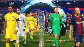 PES 2018 | UEFA Champions League Final | Barcelona vs Paris Saint Germain [PSG] | Gameplay PC