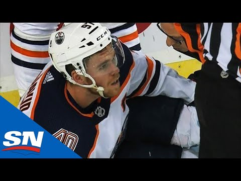 Connor McDavid Suffers Brutal Injury After Slamming Feet-First Into Post