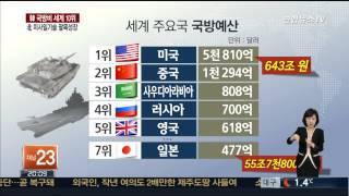 한국 국방비 세계 10위…