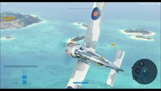 медаль Акамацу на премиальном самолете Vickers Venom в игре World of Warplanes, fragmovie