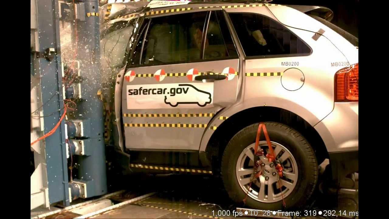 2011 Ford Edge Crash Test Pole  YouTube
