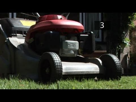 How To Trim A Lawn Using A Petrol Lawn Mower