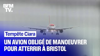Tempête Ciara: face aux vents violents, un avion manœuvre pour atterrir